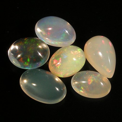 20.37 Ct. Nice Play Of Color Natural Jelly Opal Gems Set Loose Gemstone With GLC Certify