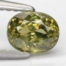 1.02 Ct. Superb Luster Green Madagascar Demantoid Garnet Loose Gemstone With GLC Certify