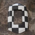 Single Rocker Switch Plate made with Black and White Checkered Tissue Paper