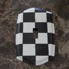 Black and White Checkered Single Toggle Switch Plate