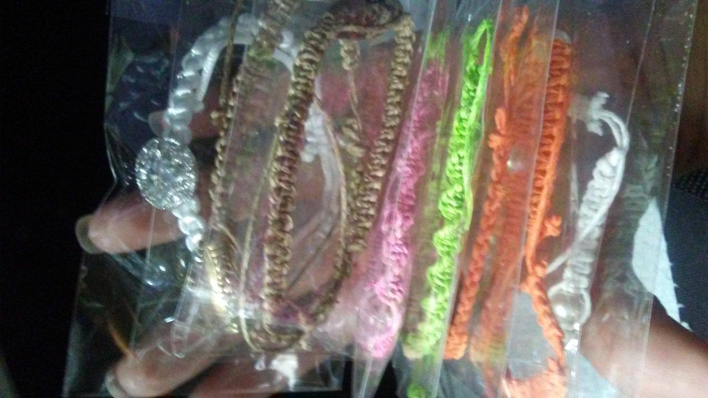 Colorful hemp bracelet
