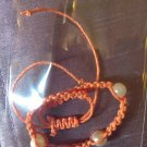 Orange and white hemp Bracelet