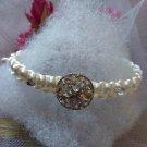 White Bracelet with shiny bottom