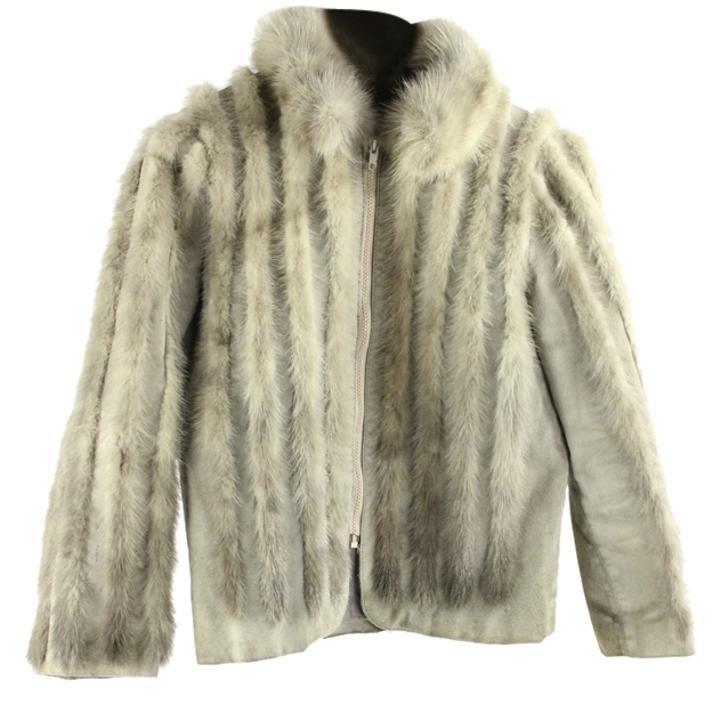 Creation Suede & Fur Furml10 Grey Jacket