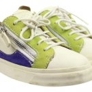 Giuseppe Zanotti Multi-color Low Top Sneakers Size 35.5 Gzsty07 White Purple Green Athletic Shoes