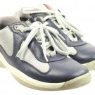 Prada Low Top Sneakers Size 6 Prjy3 Blue Grey Athletic Shoes