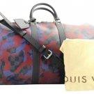 Louis Vuitton Damier Camouflage Keepall Bandouliere 6lva1020 Travel Bag