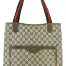Gucci Monogram Gg 207963 Dark Brown Tote Bag