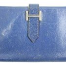 Hermès Bearn Blue Wallet HERLM29 73HERA609