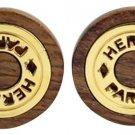 Hermès Wooden H Logo Earrings 68HER902