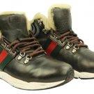 Gucci Fur Lined Sneaker Lbslm79 Dark Brown Boots
