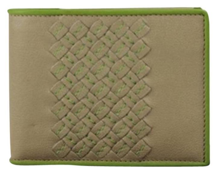 Bottega Veneta BVSL04 Taupe Green Wallet