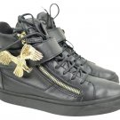 Giuseppe Zanotti Gold Eagle London Lbslm107 Black Athletic Shoes