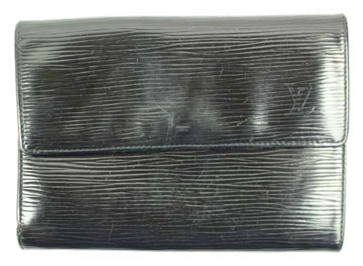 Louis Vuitton Black Epi leather Porte Tresor Etuispapie LVTL184