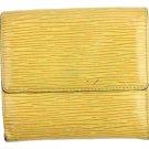 Louis Vuitton Yellow Trifold Wallet 33LVA909