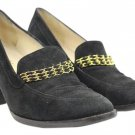 Chanel Penny Loafer Chain Heels Ccsl03 Black Gold Pumps
