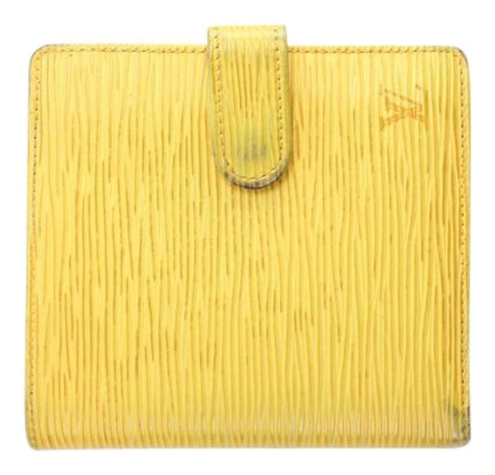 Louis Vuitton Yellow Epi Wallet 27LVA1014