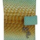 Mauro Burani Multi-color Embossed Leather Wallet MBWLM1