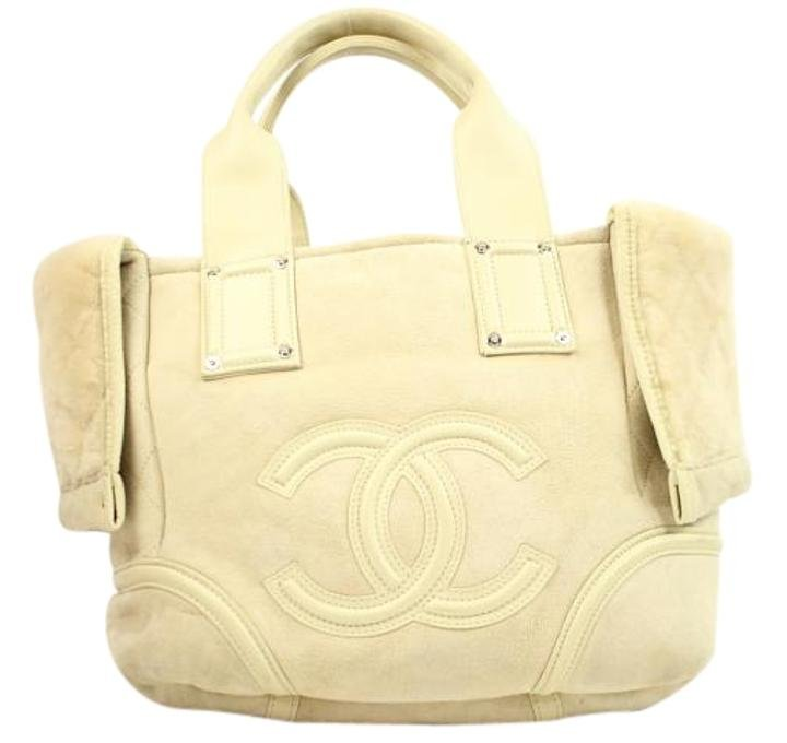 Chanel Shearling Convertible Fur Tote 37cca629 Beige Satchel