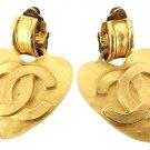 Chanel 95p CC Heart Earrings 210577