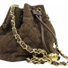 Chanel Quilted Drawstring Hobo Ccty45 Brown Cross Body Bag