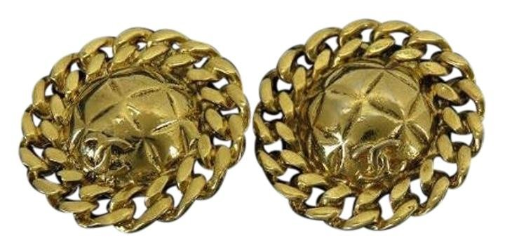 Chanel Quilted CC Earrings 210866