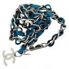 Chanel Blue Interlaced Chain Belt 211229
