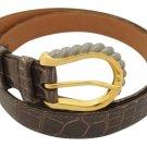 """Hermès Crocodile H Belt (31""""-34"""" Waist) 211597"""