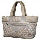 Chanel Jumbo Cocoon Tote 211206 Grey Satchel