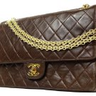 Chanel Madamoiselle Classic Flap 211208 BROWN Satchel