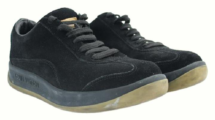 Louis Vuitton Black Classic Sneaker 45lva1202 Athletic Shoes