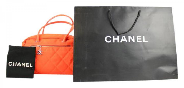 Chanel Fluorescent Biarritz Duffle 213811 Orange Satchel