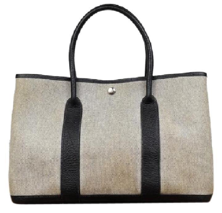 Hermès Toile Garden Party 213074 Black Tote Bag