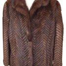 Chevron Quilted Mink 212066 Fur Coat