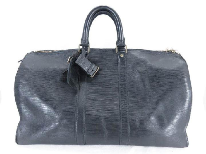 Louis Vuitton Black Epi Keepall 45 214257 Noir Travel Bag
