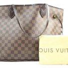 Louis Vuitton Neverfull Mm 212040 Damier Ebene Tote Bag