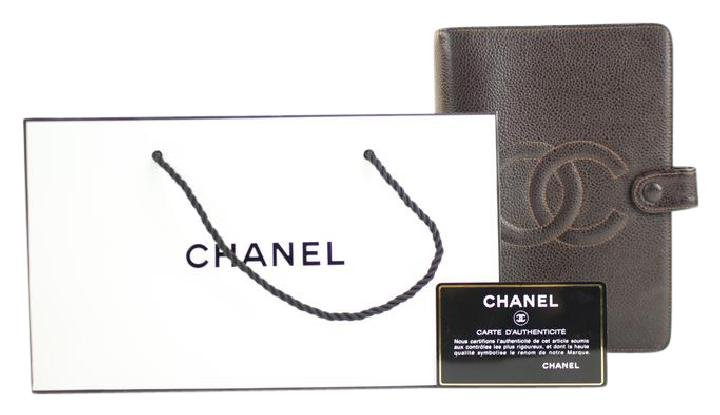 Chanel Large Brown Caviar CC Agenda 214369