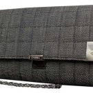 Chanel Quilted Denim Woc 214364 Grey Clutch