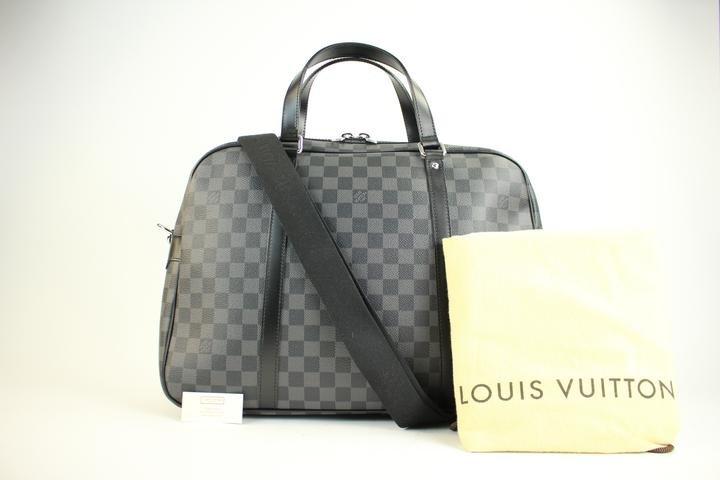 Louis Vuitton Damier Graphite Jorn Porte Documents Voyage 2way 49lva221 Travel Bag