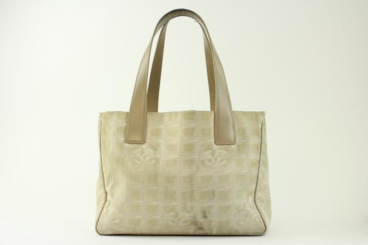 Chanel Quilted Metallic 1ccty3217 Taupe Tote Bag