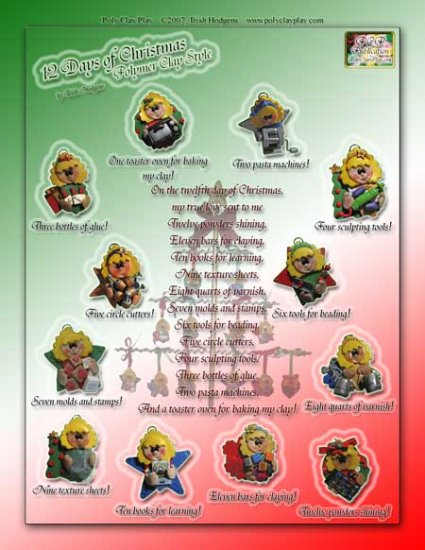 12 Days of Christmas ~ Polymer Clay Style