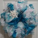 Whimsical Holiday Snowflake Winter Wreath