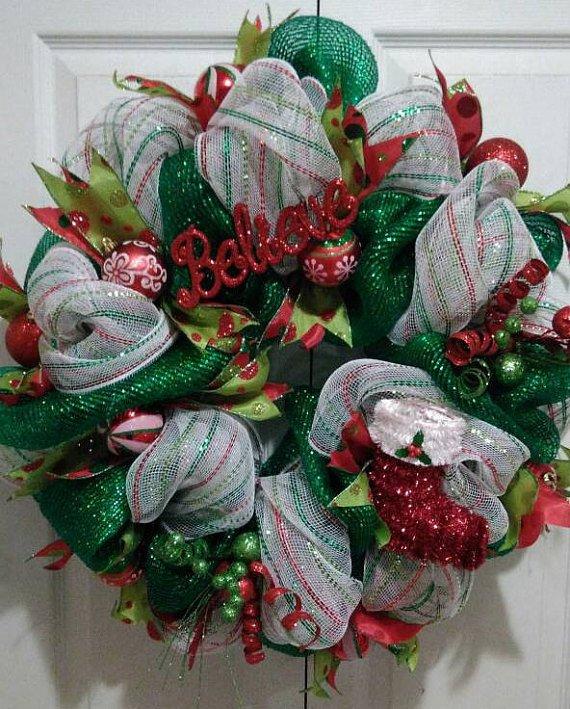 Believe Holiday Christmas Wreath