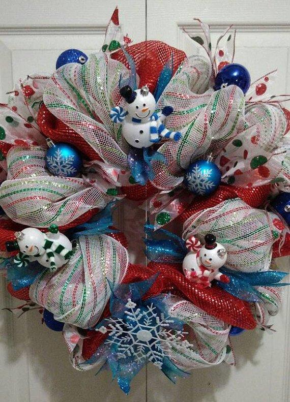 Winter Wonderland Holiday Christmas Wreath