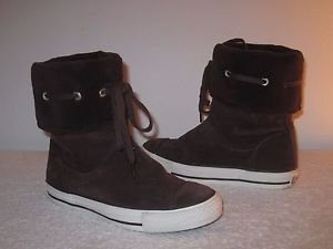 Women's Converse All Star Chuck Taylor Brown Suede Fashion Sneaker Boots  Sz.6