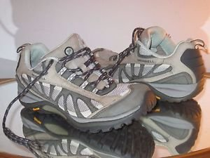 Merrell, Women's Sports Lace-Up Shoes - Grey/Mint Size 8.5