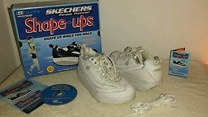 Sketchers Shape-Ups Women's White Size 7.5 in original box with DVD
