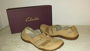 Clarks Womens HALEY STORK Casual Sporty Slip-on Shoes Size 9