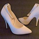 "Seduce by Pleaser -431 White Patent Ankle Strap 5"" Heel Shoes/Pumps Size 7 New"