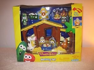 NEW IN BOX  Veggie Tales Nativity Set